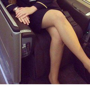 European Flight Sheer Beige Pantyhose x 9